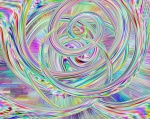 Multicolored loops and swirls